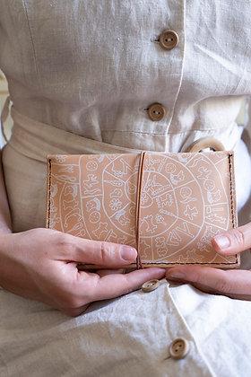 Leather pouch purse, Phaistos Disc