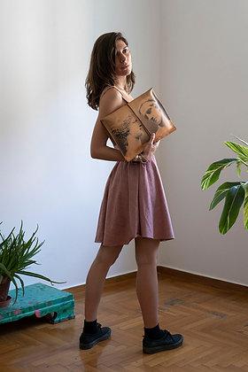 Leather Clutch Envelope Large, Aphrodite & Diadoumenos