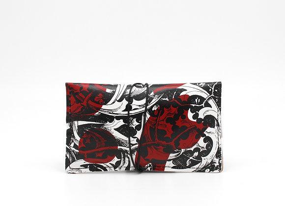 Leather pouch purse portfolio envelope. Gothic Ornament