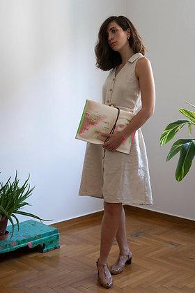 Leather Pouch Envelope Large, Aphrodite & Diadoumenos 3D