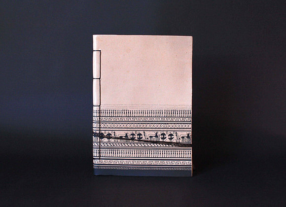 Leather Journal Notebook A5, Geometrical Period