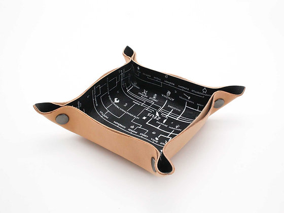 Leather Tray / Vide Poche, Small. Genealogical Tree of Gods