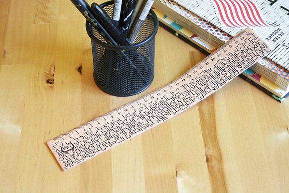 Leather Ruler/bookmark, Silkscreen printed, The Minotaur