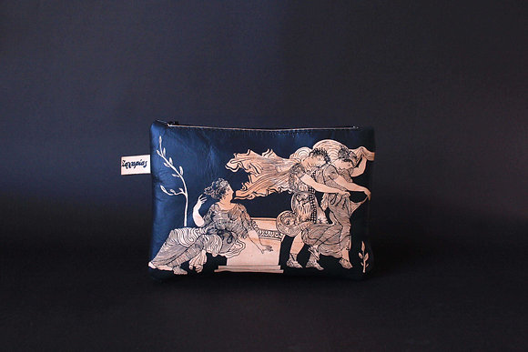 Leather Travel Pouch Purse, The abduction of the Daughters of Leucippus