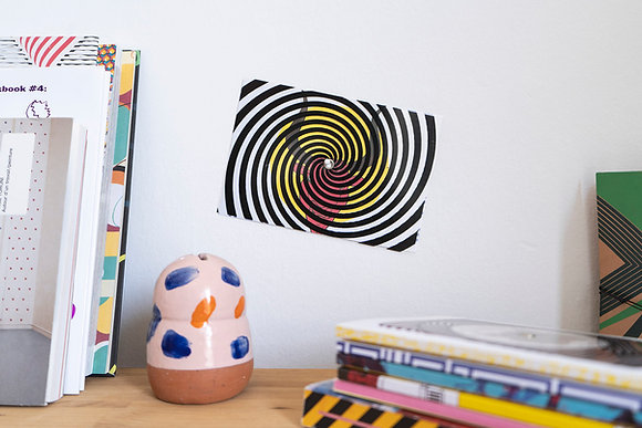 Turning postcard/wall decor, interactive Optical Illusion. The Minotaur.