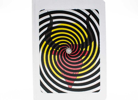 Optical Illusion Turning notebook/journal, The Minotaur. Interactive cover.