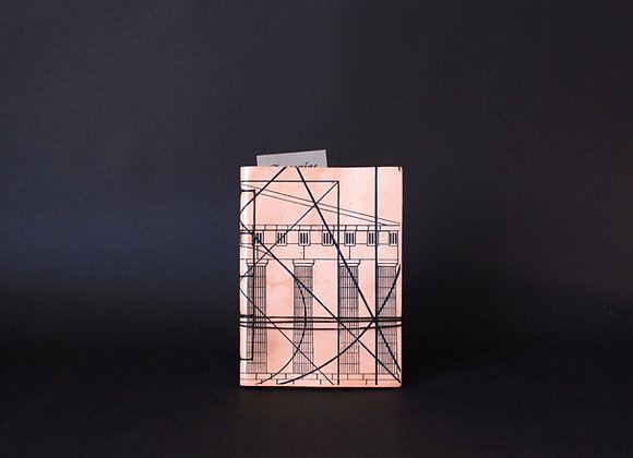 Leather Journal Notebook A6, Golden Ratio.