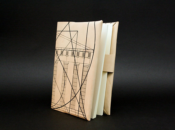 Leather Book/Journal Cover, Refillable cover. Golden Ratio