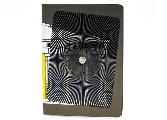 Optical Illusion Turning notebook/journal, The Golden Ratio. Interactive cover.