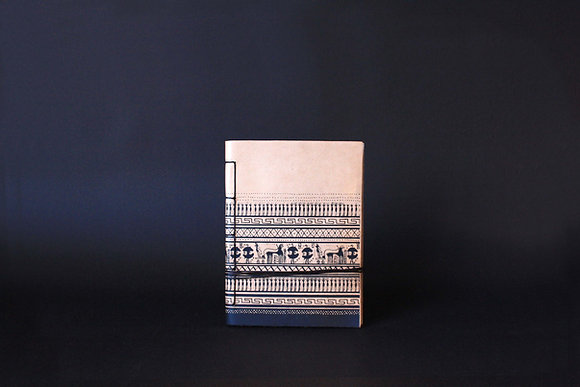 Leather Journal Notebook A6, Geometrical Period