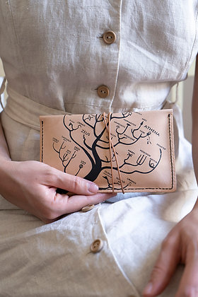 Leather pouch purse, Genealogical Tree of Gods