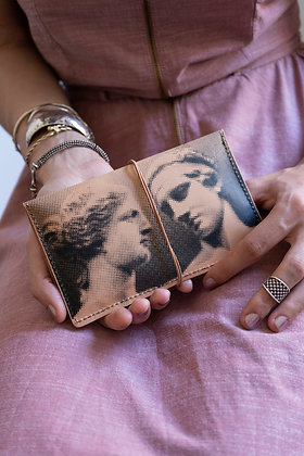 Leather pouch purse, Aphrodite & Diadoumenos