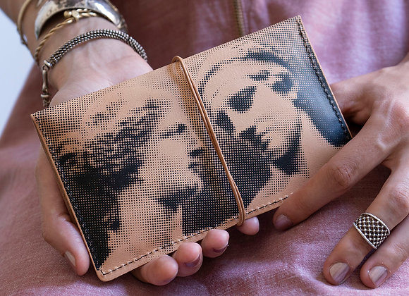 Leather pouch purse, Aphrodite & Diadoumenos