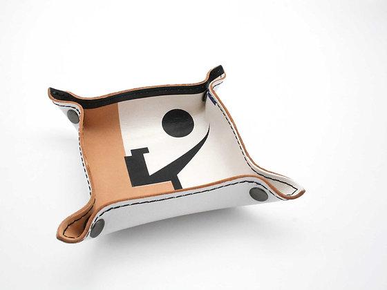 Leather Tray / Vide Poche, Small. Frank Stella.