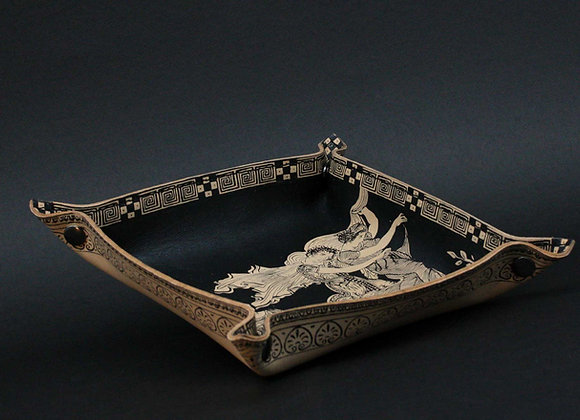 Leather tray / vide poche, The abduction of the Daughters of Leucippus