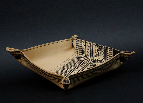 Leather tray / vide poche, Geometrical Period