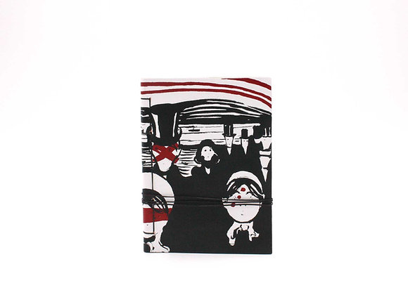 Leather Journal Notebook A6, Munch ANGST