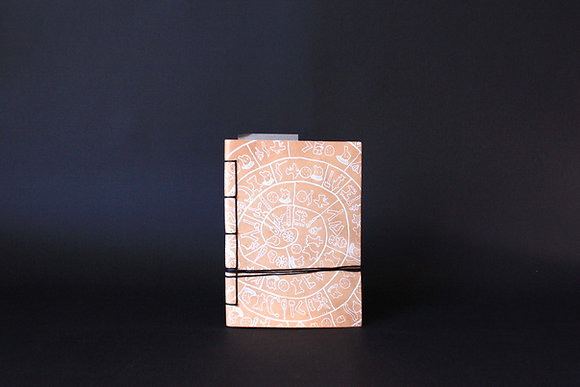 Leather Journal Notebook A6, Phaistos Disc.