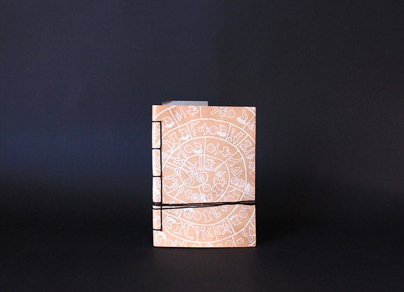 Leather Journal Notebook A6, Phaistos Disc.