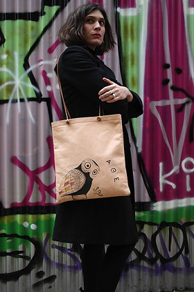 Leather Tote Bag / Shopper Bag, Owl of Athens