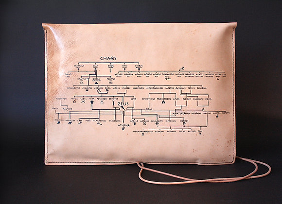 Leather Pouch Envelope Large, Genealogical Tree of Gods