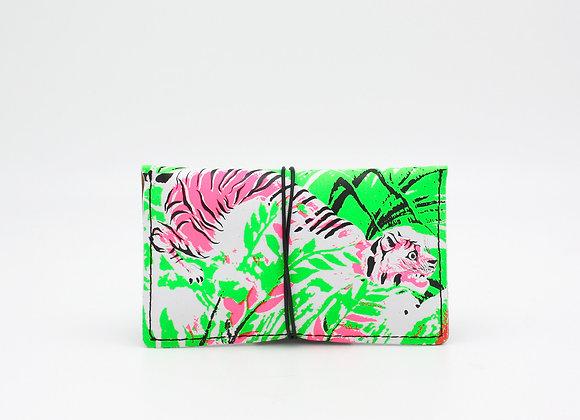 copy of Leather pouch purse portfolio envelope. Rousseau's Pink Tiger