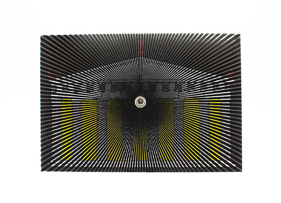 Turning postcard/wall decor, interactive Optical Illusion. The Golden Ratio.