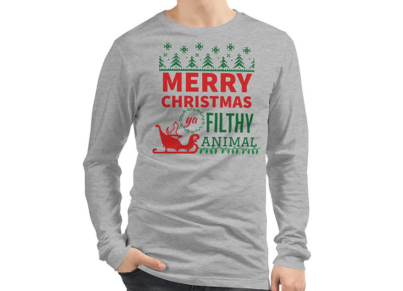 Merry Christmas Ya Filthy Animal Long Sleeve Tee