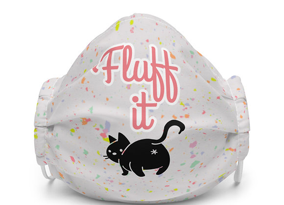Fluff it Face Mask (White)