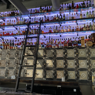 Gertie's Nashville Whiskey Wall