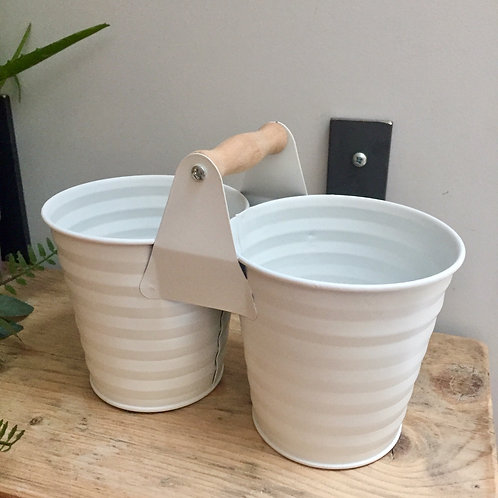 Metal Double Planter Holder