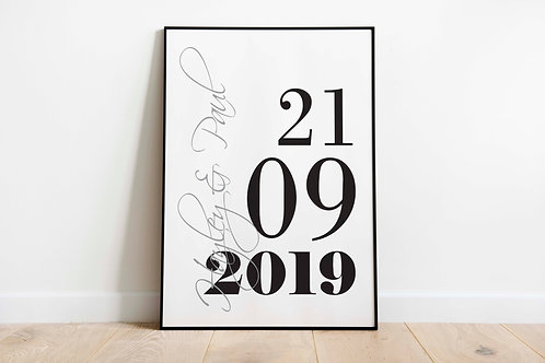 Personalised Date A4 Print