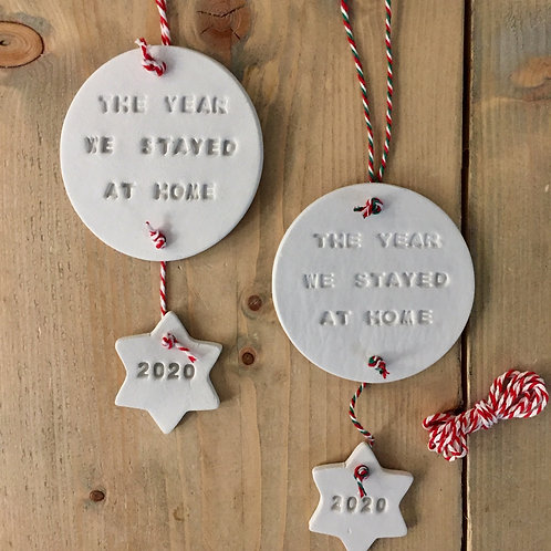 The Year We Stayed at Home Handmade Clay Decoration
