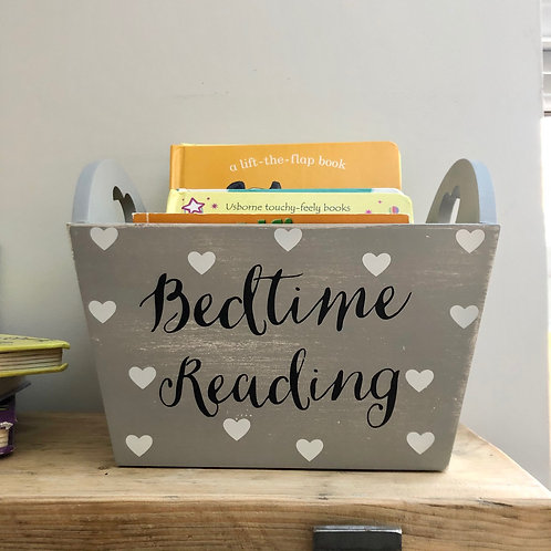 Rustic Wooden Bedtime Reading Crate