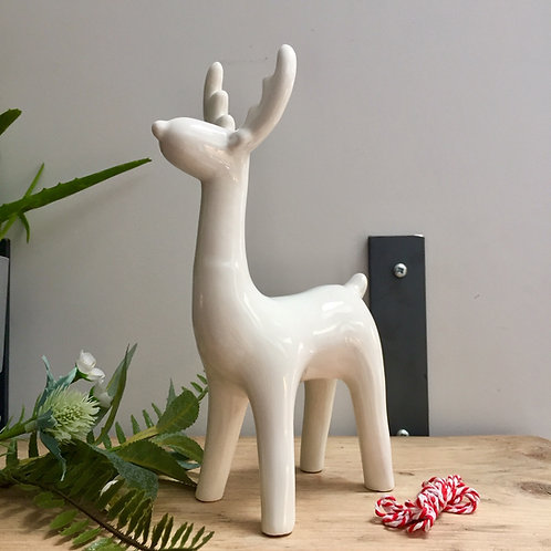 IMPERFECTION Long Necked Ceramic Reindeer