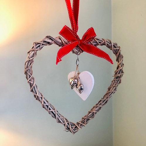 Hanging Wicker Heart