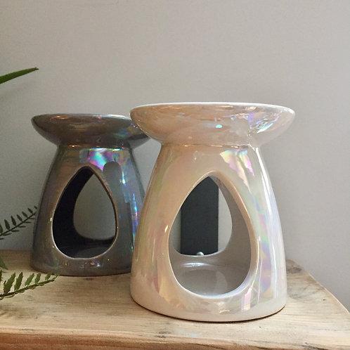 White Pearl Finish Oil/Wax Burner