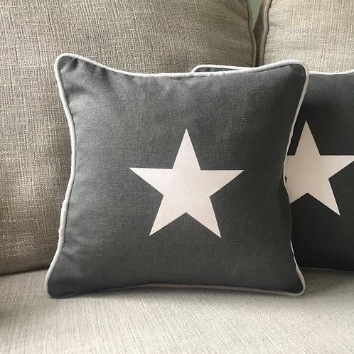 Grey Star Cushion 30cm