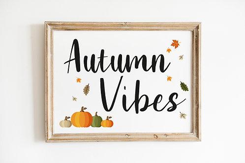 Autumn Vibes A4 Print