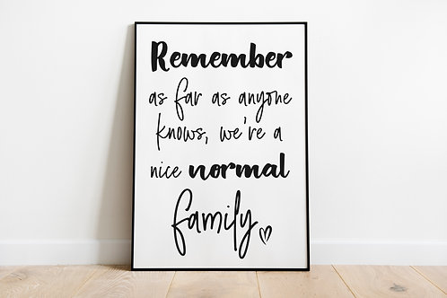 Nice Normal Family A4 Print