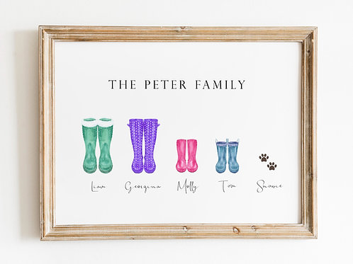 Family Welly A4 Print