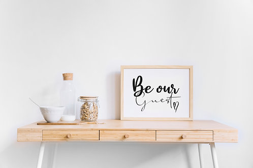 Be Our Guest A4 Print