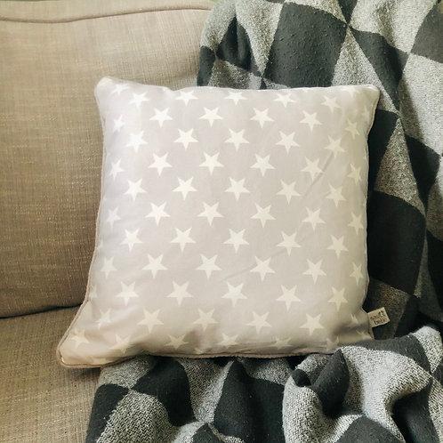 Light Grey Star Cushion // Sass & Belle