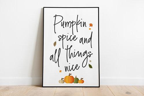 Pumpkin Spice A4 Print
