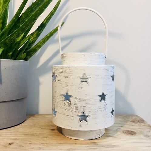 White Metal Star Lantern