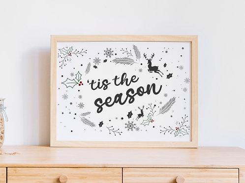 Tis the Season A4 Print