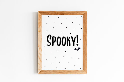 SPOOKY Halloween A4 Print