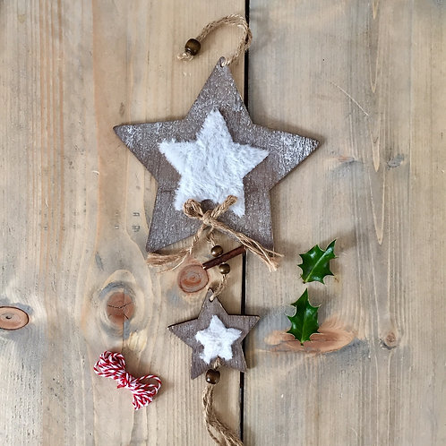 Wooden Hanging Star Garland