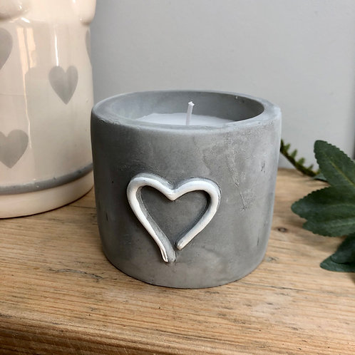 Candle in Concrete Pot
