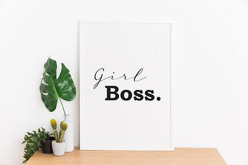 Girl Boss A4 Print